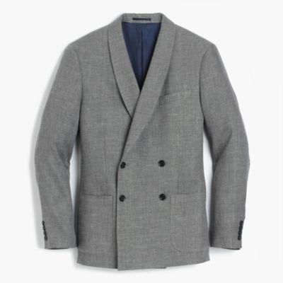 Ludlow dinner jacket in Italian linen-cotton
