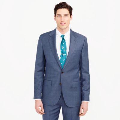 Ludlow wide-lapel suit jacket in Italian worsted wool
