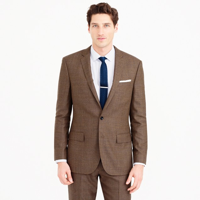 Ludlow suit jacket in herringbone American wool