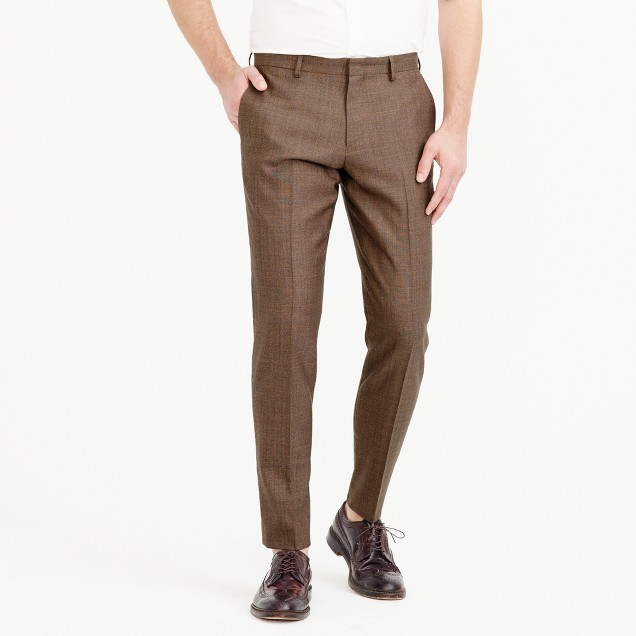 Ludlow suit pant in herringbone American wool