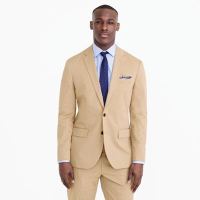 Crosby suit jacket in Italian stretch chino