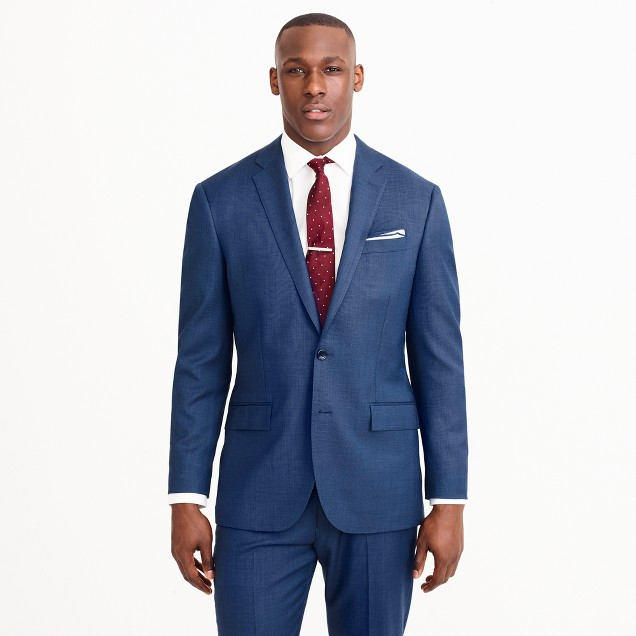 Crosby suit jacket in Italian stretch worsted wool