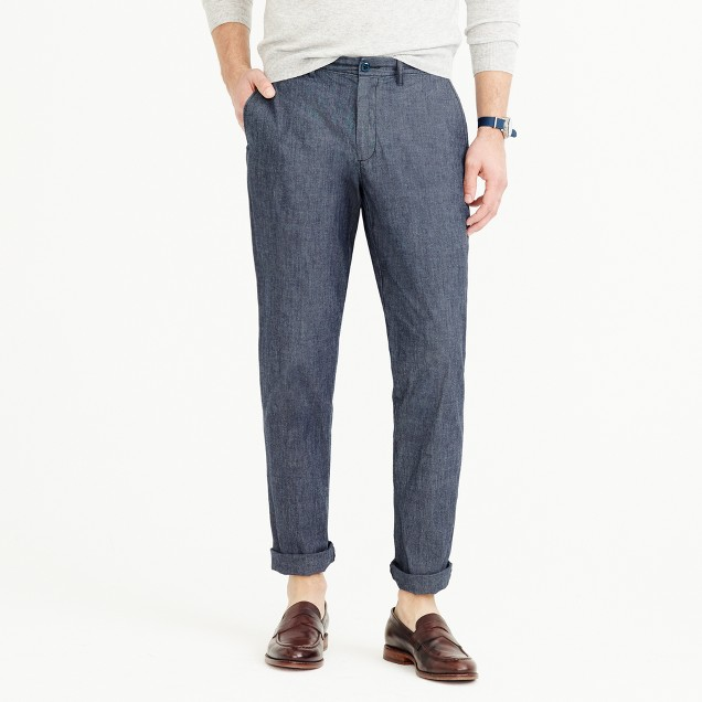 Chambray stretch chino pant in 770 fit