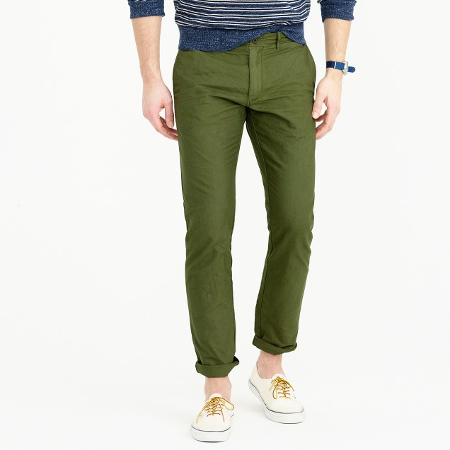 Garment-dyed cotton oxford pant in 484 slim fit