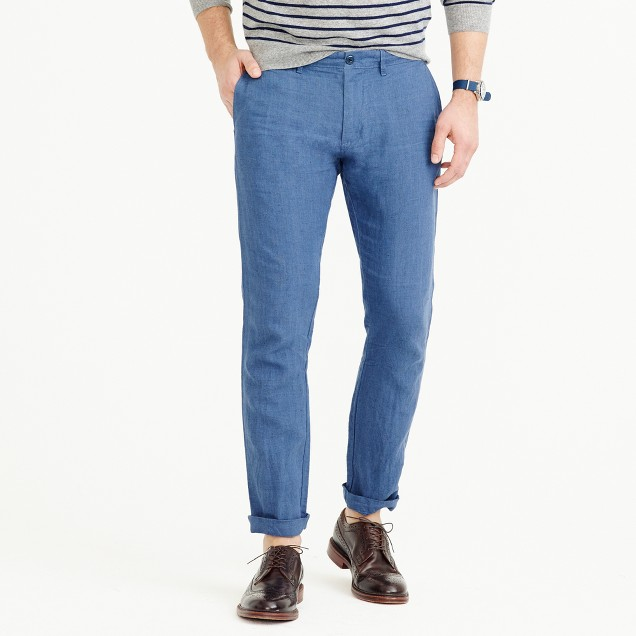 Irish linen chino pant in 484 slim fit