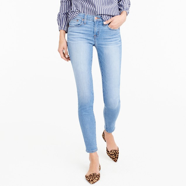 Petite toothpick jean in Chimney wash