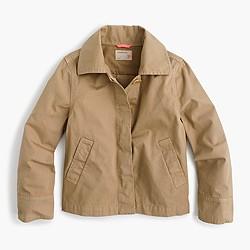 Girls' ruffle-back chino jacket