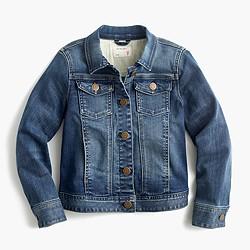 Girls stretch denim jacket