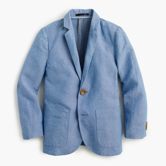 Boys' unconstructed Ludlow blazer in Irish linen