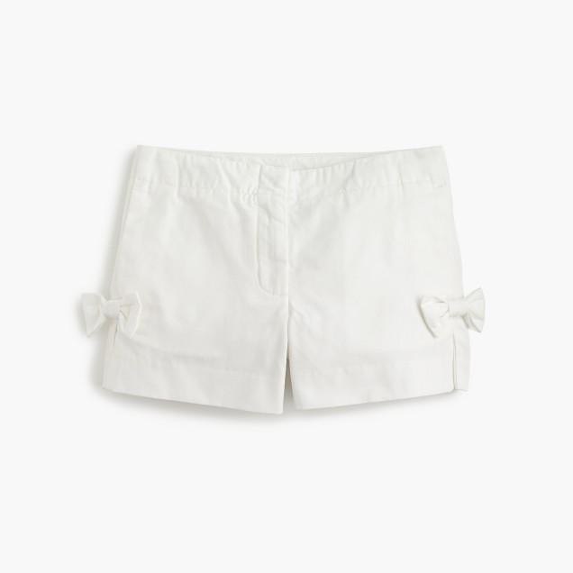 Girls' bow short