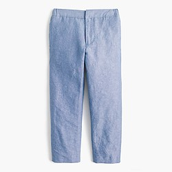 Boys' pull-on Ludlow suit pant in Irish linen