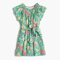 Girls' pastel floral dress