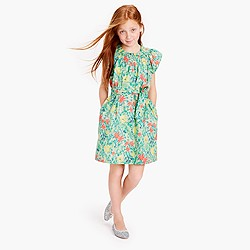 Girls' pastel floral dress