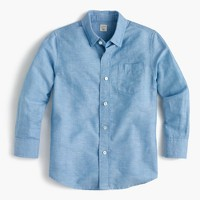 Kids' linen-cotton shirt
