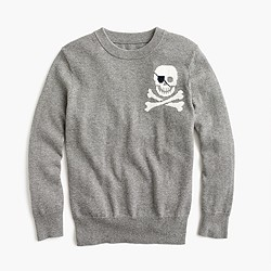 Boys' cotton-cashmere skull sweater
