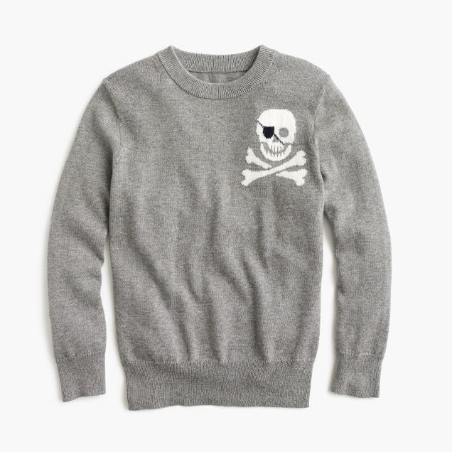 Boys' cotton-cashmere skull sweater