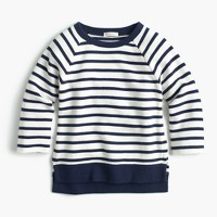 Girls' striped sweatshirt
