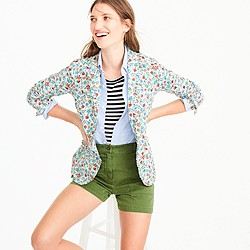 Petite Campbell blazer with ruffle trim in Liberty® Edenham floral