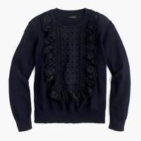 Eyelet sweater in summerweight cotton