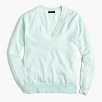 V-neck sweater in summerweight cotton