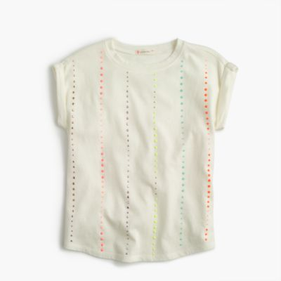 Embellished dot T-shirt