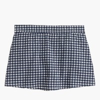 Gingham swim skirt