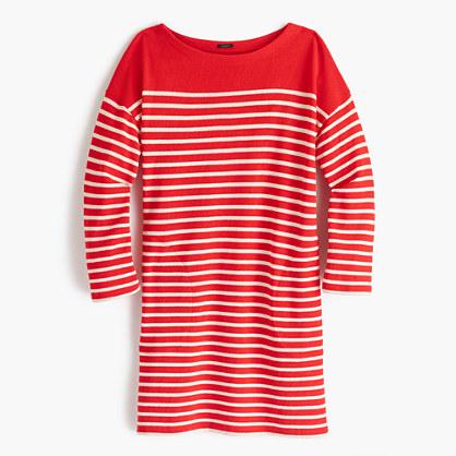 Striped boatneck tunic