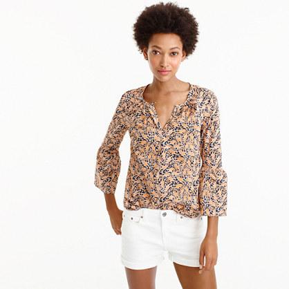245d3198bd714 Drake s® for J.Crew bell-sleeve top in giraffe print
