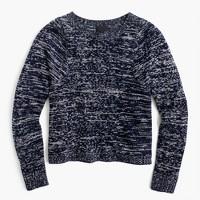 Italian cashmere marled crewneck sweater