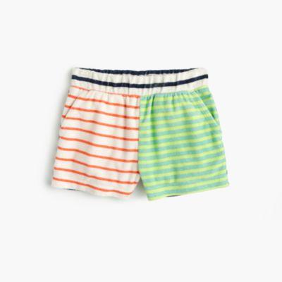 Girls' striped terry short
