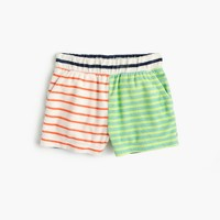 Girls' striped terry short