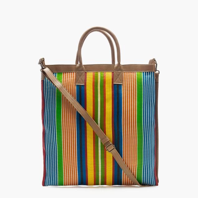 Christian Peau® striped shoulder net bag