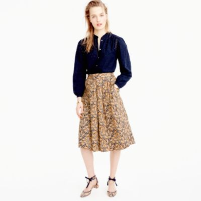 Drake's® for J.Crew skirt in giraffe print