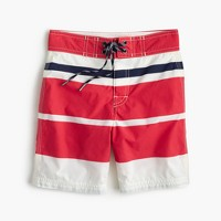 Boys' board short in mixed-up stripe