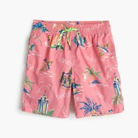 Boys' swim trunk in Hawaiian islands