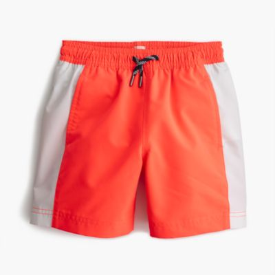 Boys' swim trunk in side stripe