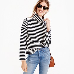 Oversized striped turtleneck