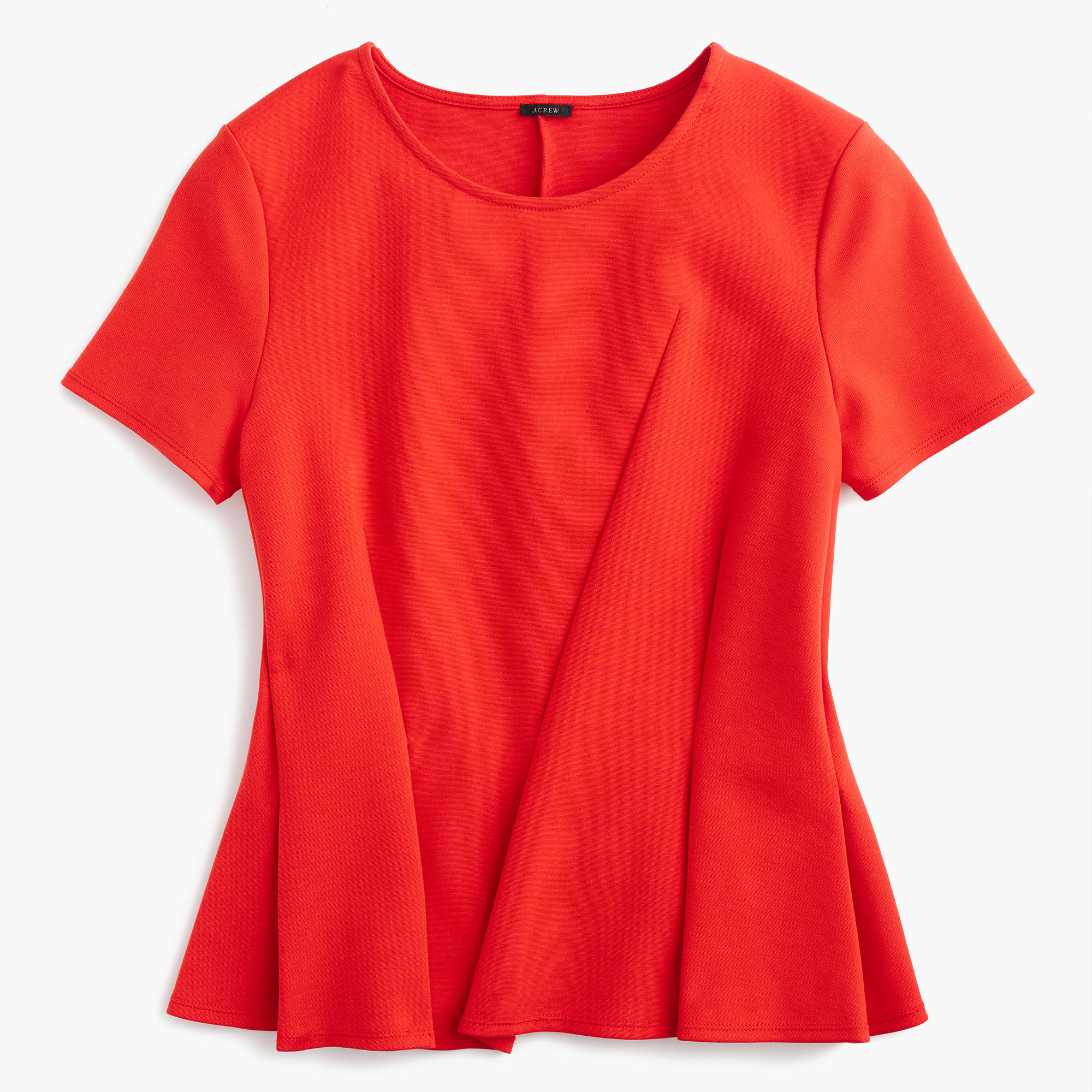 Asymmetrical Pleated Top Women Shirts Tops J Crew