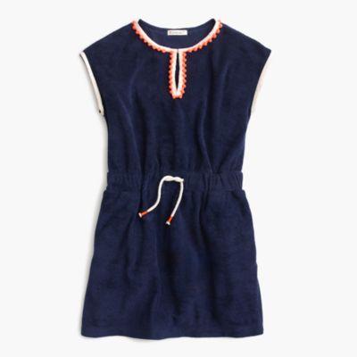 Girls' terry pom-pom dress