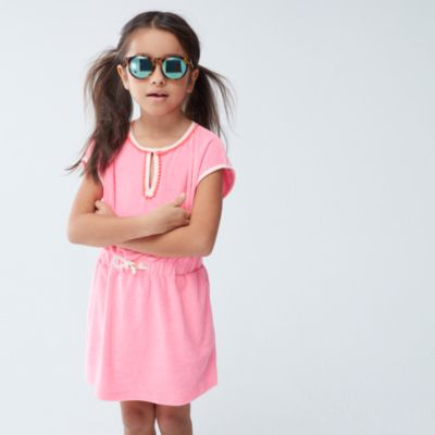 Girls' terry pom-pom dress