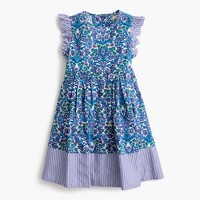 Girls' ruffle-sleeve dress in Liberty® floral