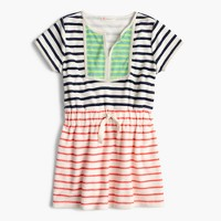 Girls' terry dress in mash-up