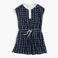 Girls' anchor-print terry dress