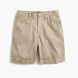 Boys' Stanton short in lightweight garment-dyed stretch chino