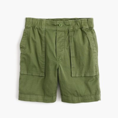Boys' stretch patch-pocket pull-on short in chino