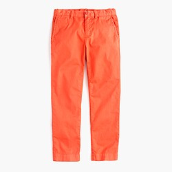 Boys' garment-dyed stretch skinny chino