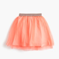 Girls' tulle skirt with sparkly waistband