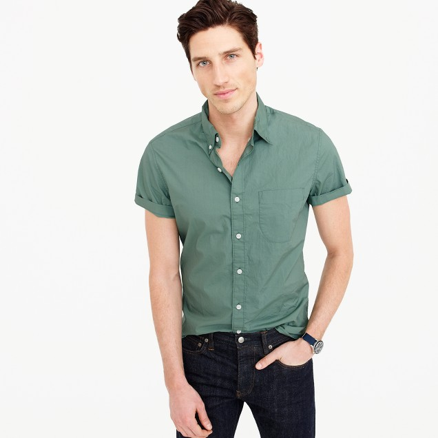 Short-sleeve shirt in green