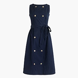 Petite garment-dyed trench dress