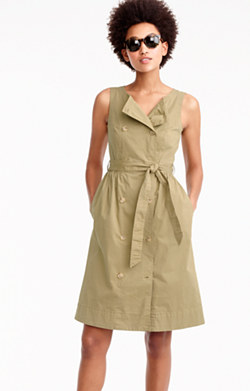Garment-dyed trench dress